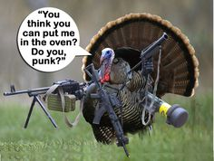 These turkey hunting memes are nothing short of hysterical. Happy Thanksgiving Memes, Thanksgiving Pictures, Thanksgiving 2020, Vintage Thanksgiving, Vintage Holiday, Turkey Jokes, Funny Turkey Memes, We Are The Mighty, Hunting Humor