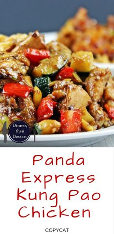 Full of Spicy Wok fired Chicken Breast, Zucchini, Red Bell Peppers and crunchy Peanuts in a Sesame Ginger-Garlic Sauce, this recipe is Authentically Panda Express! The recipe is straight from the source!