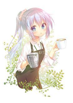 Coffee Manga Anime Art - My Virtual Coffee House Loli Kawaii, Kawaii Anime Girl, Anime Art Girl, Anime Girls, Pretty Anime Girl, Beautiful Anime Girl, Chica Anime Manga, Anime Chibi, Anime Illustration