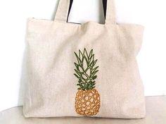 pineapple totebag / shoulder bag / minimalist line por NIARMENA