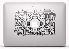 Pegatinas: Cámara Abstracta Vinilo, pegatina, adhesivo para portátil, Mac, o Macbook. #vinilosportatil  #vinilosmac #vinilosmacbook