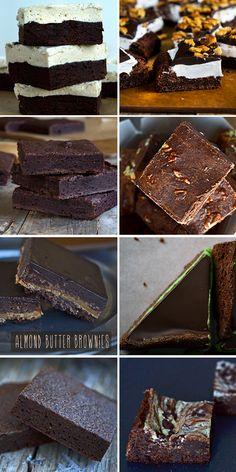 Gluten Free Brownies http://glutenfreeonashoestring.com/gluten-free-brownie-recipes-new/