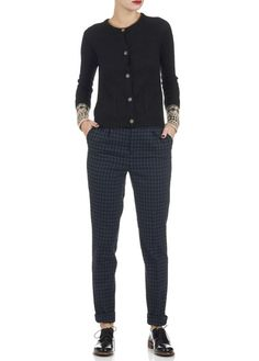 Pantalon carreaux Preston Gris by LEON & HARPER