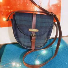 2b7dea576eb6  RARE  Vintage Polo Ralph Lauren Tartan Plaid Cross Body Shoulder Purse Bag