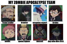DeviantArt: More Like Blue Exorcist Zombie Apocalypse Team by ...