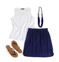 The skirt would work well into my wardrobe in this color and seems comfortable.