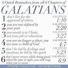 The book of Galatians is one of my favorite books of the bible. It is very clear that the Apostle Paul wanted to help the Galatians get it right. He wanted them to see the importance of not falling… Christian Life, Christian Quotes, Christian Apps, Bible Scriptures, Bible Quotes, Lyric Quotes, Movie Quotes, Quotes Quotes, Beautiful Words