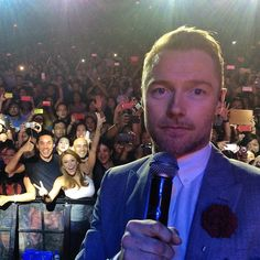 Awesome concert photo with Ronan Keating!  Biggest thank you to Keith Duffy for stealing my phone to take this pic!  #FanGirlGalore Love you guys!!!!  #Boyzone #Manila #Philippines #TagAwayGuys @rokeating @keithdusterduffy @shanelynchlife @mrmikeygraham