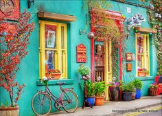 Beautiful colors to inspire in Skibbereen, County Cork, Ireland by Nikki Kitley.