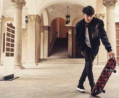 Tao Exo, Tumblr, Korean Celebrities, Bomber Jacket, Coat, People, Pants, Jackets, Instagram