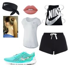 """""""#nike"""" by iceytata ❤ liked on Polyvore featuring New Look, NIKE, Lime Crime, summercamp and 60secondstyle"""