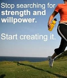 Willpower isn't something you find or lose--it's something you create! | via @SparkPeople #motivation #quote