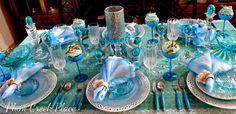Plum Creek Place - Blue Bunny Tablescape