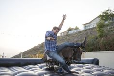 Before I Do Events texan going away party, mechanical bull, southern style, plaid, denim, fun, play, ride, jeans, www.beforeidoevents.com
