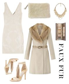 """""""Neutral Fur"""" by im-karla-with-a-k on Polyvore featuring Miss Selfridge, Alexander McQueen, Jimmy Choo and DaBaGirl"""