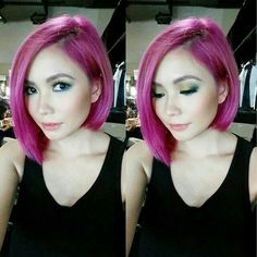 Philippine Actress and Singer Ms Yeng Constantino with her Pink fashioned one length hair Long Bob Hairstyles, Modern Hairstyles, One Length Hair, Constantino, Pink Fashion, Hairstyle Ideas, Hair Lengths, Asian Woman, Ms