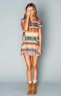 Nicks Babydoll ~ Cabin Fever Spandy 95% Poly 5% Spandex To be worn as a tunic        Show Me Your MuMu