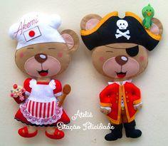 Estação Felicidade: Ursinhos personalizados! =)
