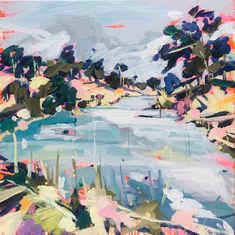 Oil Paintings — Paula Jenkins River I, I Cool, Abstract Landscape, Oil Paintings, Martini, Landscapes, Paisajes, Scenery, Martinis