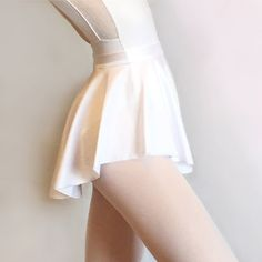 Ballet Skirt White SAB Dance Wear Classic Lycra Spandex Royall Dancewear Pull On Skating Lyrical