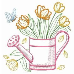 vintage transfer patterns for embroideryfree vintage machine embroidery patterns Flower Embroidery Designs, Machine Embroidery Patterns, Crewel Embroidery, Vintage Embroidery, Simple Embroidery, Embroidery Ideas, Floral Embroidery, Flower Patterns, Mexican Embroidery
