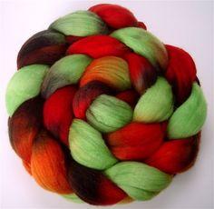 Dreadlocks ~ DRAGON SCALES Handpainted Merino Wool Roving 4 ounces