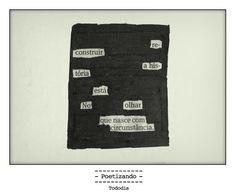"Poesia ""achada"" no jornal do dia 11/01 pela poeta Ana Guadalupe,"