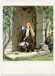 1960-Fairy-tale-Little-Red-Riding-Hood-Russian-Soviet-postcard-Russia