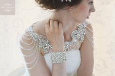Bolero nupcial boda vestido hombro accesorios