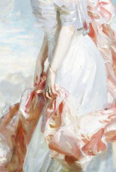 Miss Mathilde Townsend, Detail. by John Singer Sargent (1907)