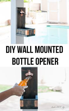 Easy DIY gift idea for him | Wall mounted bottle opener | Scrap wood project idea