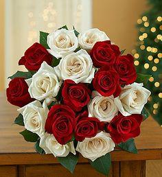 #Peppermint Rose Bouquet, 18 Stems - Bouquet Only $39.99