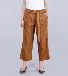 Calca faixa linho ouro Dourado- The Outlet | Moda e Roupas Femininas