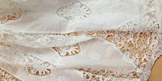 Vintage Style White hollow out lace fabric por HQFabricFamily