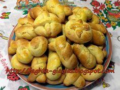 Greek Cookies, Easter Cookies, Pretzel Bites, Bagel, Biscuits, Sweets, Bread, Recipes, Food