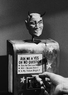"The fortune teller from The Twilight Zone episode, ""Nick Of Time"", 1960."