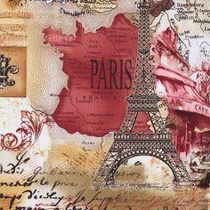 Preciosas láminas de decoupage de París vintage...