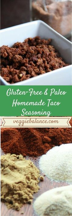 Homemade Taco Seasoning - Gluten Free Recipes | Easy Recipes by Veggie Balance