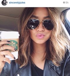 I want this hair style. But with my hair color of course. Ombré Hair, Hair Day, New Hair, Messy Hair, Messy Lob, Wavy Lob, Choppy Hair, Hair Weft, Girl Hair