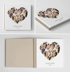 Engagement Photo Book Cover Template for by hazyskiesdesigns