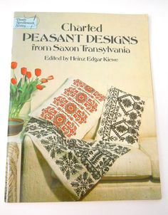 Book Charted Peasant Designs from Saxon Translvania 1964 Edition Cross Stitch