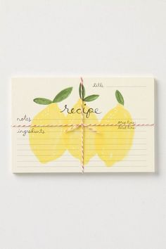(via stationary / recipe cards) Nice gift idea for a friend in need of some new cooking ideas!