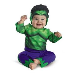 About Costume Shop Incredible Hulk Costume - Hulk Infant CostumeIncredible Baby Hulk!Costume includes: Green bodysuit with purple pants and a Hulk character hood. Available size: Infant months.This is an officially licensed Hulk costume. Hulk Halloween Costume, Baby Boy Halloween, Superhero Halloween, Toddler Costumes, Boy Costumes, Super Hero Costumes, Costume Ideas, Family Halloween, Feltro