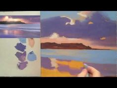 Acrylic landscape painting techniques. Lessons for beginners Part 3