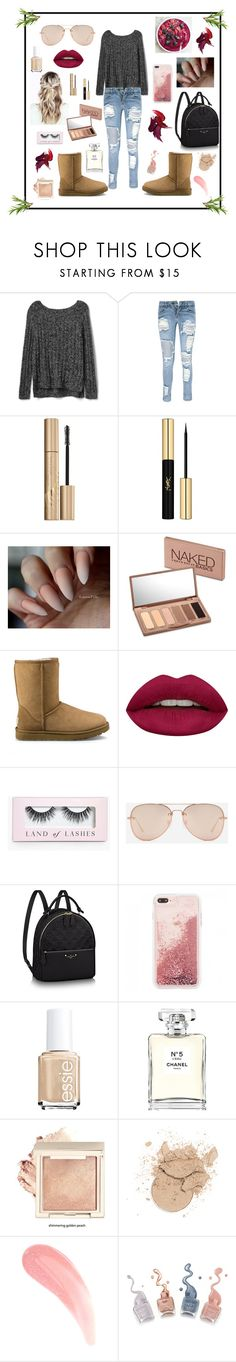 """""""Raspberry Sweater Weather Days"""" by mcadamsa on Polyvore featuring Gap, Boohoo, Stila, Yves Saint Laurent, Urban Decay, UGG, Huda Beauty, CHARLES & KEITH and Chanel"""