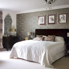 Twenties-style bedroom | Traditional bedroom design | Bedroom | Image | Housetohome.co.uk