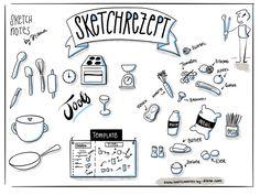 Sketchrezept selber zeichnen ! Schon mal ein Sketchrezept gezeichnet? Sketchnotes sind eine hervorragende Methode, um Prozesse visuell darzustellen. Das Sketchrezept ist perfekt, um erste Schritte ins Sketchnoting zu wagen!