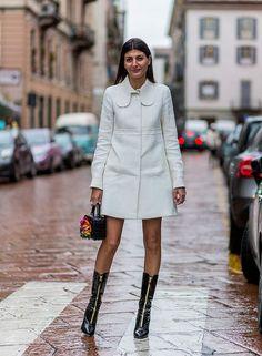 Giovanna Battaglia during Milan Fashion Week 2016 Giovanna Battaglia, Milan Fashion Weeks, Paris Fashion, Look Street Style, Street Styles, Fashion Editor, Autumn Winter Fashion, Celebrity Style, Ankle Boots