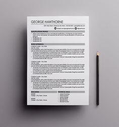 8 best resume templates images on pinterest cv template microsoft