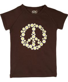 Ej Sikke Lej toffe t-shirt met peace-teken vol madeliefjes. ej-sikke-lej.nl.emilea.be
